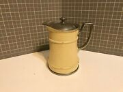 American Thermos Bottle Co Norwich Ct Vintage Thermos Enameled Stainless Carafe