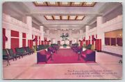 St Louis Missouriash Tray Standsmarquette Hotellobby And Ladies Galleryc1910
