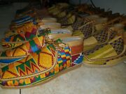 Clark Kente Shoes - African Print Wallabees Made In Ghana Africa