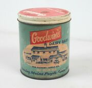 Advertising Container Box Goodwinand039s House Dairy Bars South Paris Auburn Maine