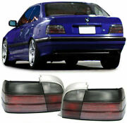 All Smoked Tail Lights Rear Lamps For Bmw E36 3 Series Coupe Cabrio 1990-8/1999