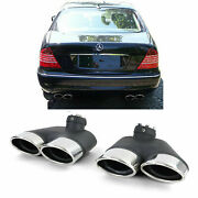 Chrome Finish Exhaust Tail Pipe Trims Tips For Mercedes S Class W220 Petrol Mode