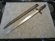 Wwii Japanese Knife Type 30 / Type 99 Arisaka Practice Blade With Scabbard Rare