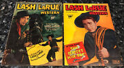 Lash Larue 1,signed And 2 Gd+ 2.5, Golden Age, Bullwhip Trainer Of Indiana Jones