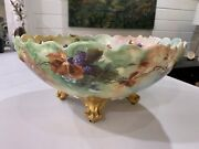 1904 Limoges Punch Bowl By Artist Mae Oandrsquohare Perfect Condition