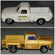 Vintage Matchbox Pickup Truck Lot Of 2 Mustard Gold And Bell Atlantic White
