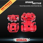 For 04 2004 Ford F150 F-150 Front + Rear Red Powder Coated Brake Calipers
