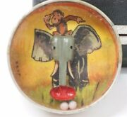 Rare D.r.g.m German Tin Bb Puzzle Hand Held Game Curious George Elephant 1900's