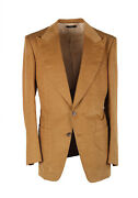 New Tom Ford Atticus Brown Corduroy Suit Size 46 / 36r U.s. In Cotton Linen