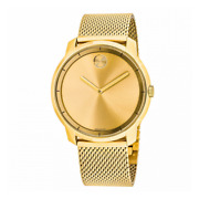 💥 Movado 3600373 Bold Gold Tone Stainless Steel Mesh Bracelet Menand039s Watch