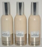 3 Bath And Body Works White Barn Spiced Gingerbread Concentrated Room Spray New