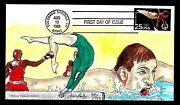 2380 25c Stamp 1988 Summer Olympics James B. Paslay Hand Painted Fdc