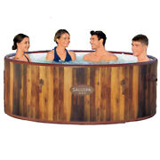 Bestway Saluspa Airjet 67 Inch 7 Person Round Inflatable Hot Tub Spa Used