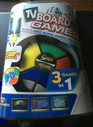 New In Package Tv Board Games 3 In 1 Simon Battleship Checkers Age 7+ Rated E