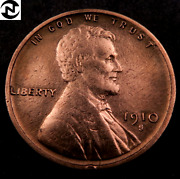 1910-s/s Rpm Lincoln Wheat Penny Cent // Au-uncirculated Red // Fs-502 W402