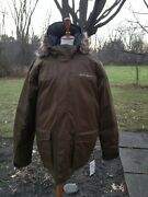 Large Tall Eddie Bauer Menand039s Down Parka Coat Waterproof Retail 289.99 Nwt New