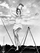 Crp-30066 1940and039s Unknown Circus Babe Walks High Wire Bare Footed Crp-30066
