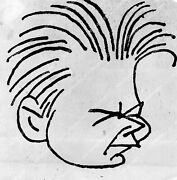 Crp-50060 Caricature Ralph Barton Or Norman Bel Geddes Live Stage Play The Mirac