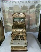 Beautiful Rare Old Restored Sm Mdl No.5 Brass Natand039l Candy Stolre Cash Register