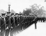 Crp-52110 Charles Ray And Firefighters On Inspection Line Silent Film The Fire B
