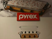 Pyrex 2 Piece 13x9x2 Limited Edition 2 Pc Serveware Set Trees Christmas Boxed