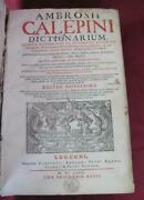 1681 Antique Dictionary V.1 Latin Hebrew Greek Old French English And Others V.rar