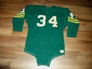 Vintage 1950's-1960's Game Used Green Bay Packers Looking Jersey Sox,fantastic