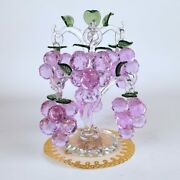 Crystal Clear Grape Tree Hanging Ornaments Fengshui Craft Crystal