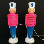 Vtg Empire Pink Toy Soldier Blow Mold Light 1969 Christmas 14 Inch Rare Working