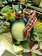 Christmas Bear By Fantastic Craft With Scarf And Snowboard