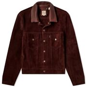 Leviand039s Vintage Clothing 1960and039s Suede Trucker Jacket Brown Italy Menand039s M Sold Out