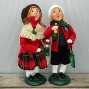 Byers Choice Set Lot Red Haired Girl Boy Child Glass Pickle Xmas Ornaments 2005