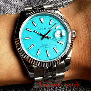 New 39.5mm Parnis Automatic Men's Watches Sapphire Crystal 21 Jewels Miyota 8215