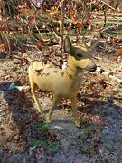 Vintage Concrete Deer Family - Rare Set From 1661 Concrete Mghy Co. As Seen