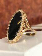 Vintage Style 14k Two Tone Gold Custom Cluster Cocktail Ring Size 7