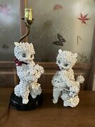Vintage Spaghetti Ceramic Cats Figurines Made In Italy