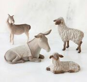 Sheltering Animals The Holy Family Figure Sculpture Hand Painting Willow Tree