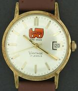 Vantage A Hamilton Co Carlton Saw Chain Advertising Character Watch W/ 17 Jewels