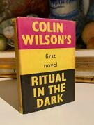 First Edition Ritual In The Dark Signed By Colin Wilson´s Novel 1960 Autograph