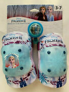 Disney Frozen Ii Protective Gear And Bicycle Bell - Knee Elbow Pads No Gloves
