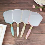 Plastic Vintage Hand Mirrors Makeup Vanity Mirror Rectangle Hold Cosmetic Mir Jc