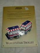 Mr. Christmas Gold Label World's Fair Trolley Battery Operated New