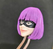 1/6 Catwoman Purple Hair Head Sculpt For 12and039and039 Female Action Figure Body Model