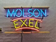 Vintage Molson Canadian Exel Neon Sign 27 By 16 Non-alcoholic Malt Beer Exc
