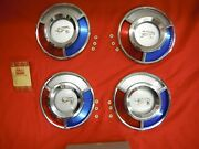 Ford Nos 1959 Accessory Wheel Cover Centers Red White Blue T-bird 59