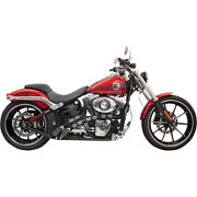 Bassani Radial Sweeper Chrome/blk For 07 H-d Softail Stand. Efi-fxst