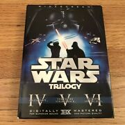 Star Wars Original Trilogy Theatrical Release Dvds 4-6 With Slipcover Authentic