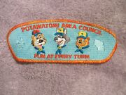 Bsa New Csp Potawatomi Area Council Patch And039fun At Every Turnand039 Sa-53 Plastic Back