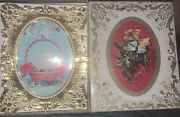 Vintage New Unused Christmas Cards Andldquogolden Picture Frame New In Box