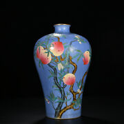 15.3 Antique Chinese Porcelain Qing Dynasty Yongzheng Famille Rose Peach Vase